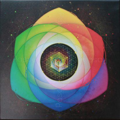 Tableau vibratoire Cosmos, imprimé sur toile