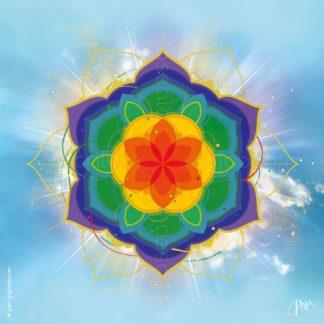 Dessin vibratoire aux couleurs des chakras