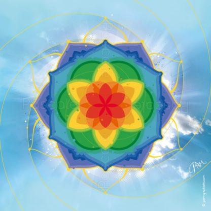 dessin vibratoire multicolore