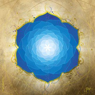 Dessin vibratoire bleu