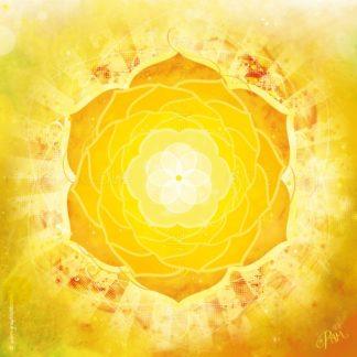 Dessin vibratoire jaune