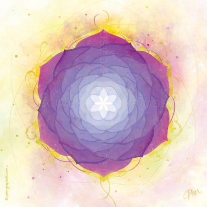 DEssin vibratoire violet