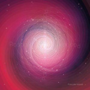 Dessin vibratoire rose