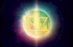 Cube de Métatron doré