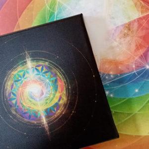 Tableaux vibratoires imprimés sur toile